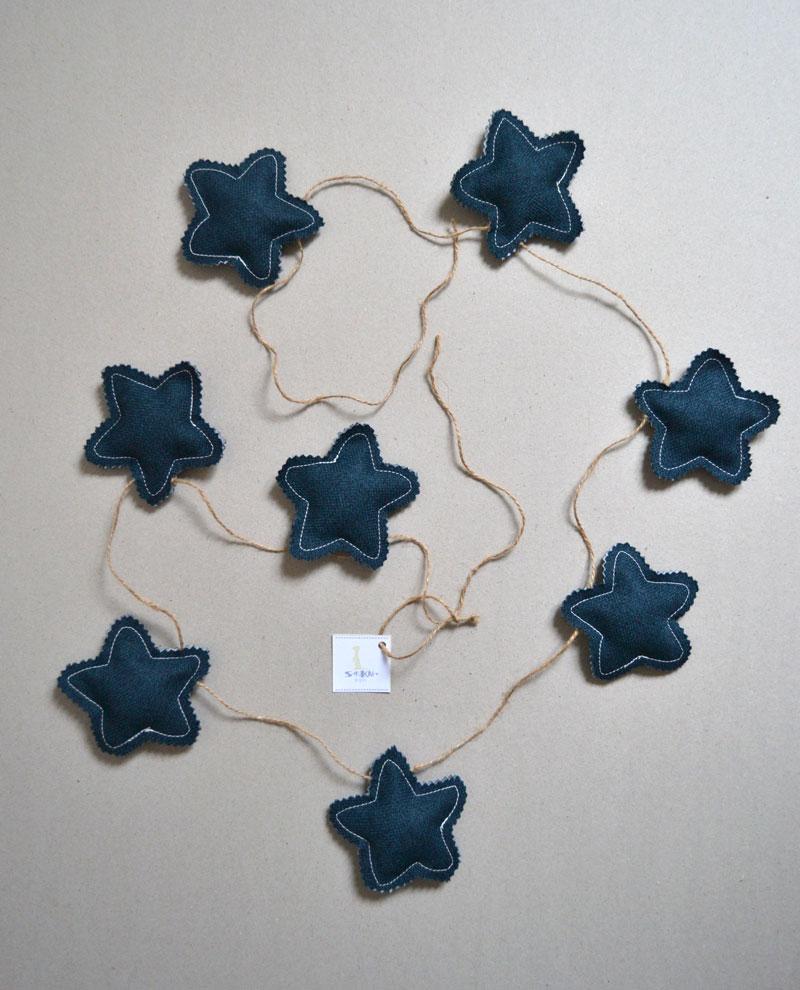 guirnaldas habitación bebe azul marino